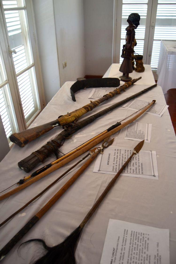 Armas, en el Museo Etnografico de Lobito