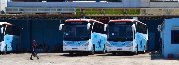 Cochera de los autobuses Macon en Benguela