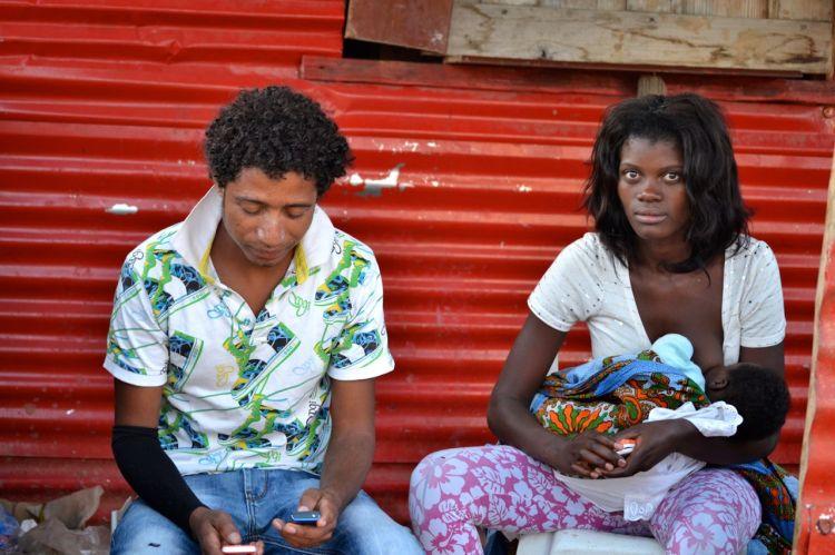 Jóvenes de la Avda Lisboa en Kuito