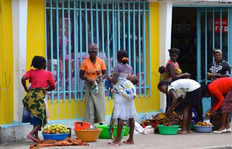 Vendedoras de fruta en kuito