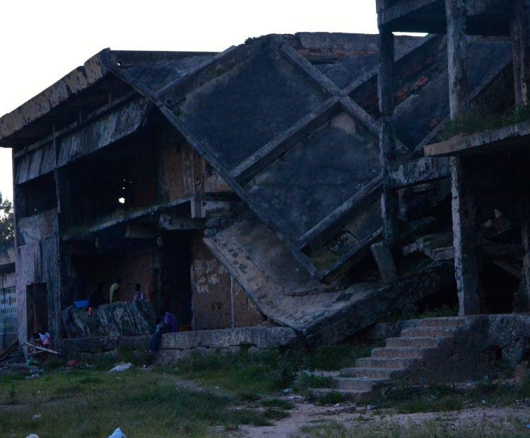 Casa bombardeada  en Kuito