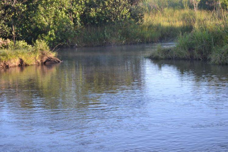 El rio Kuemba.  Vista parcial