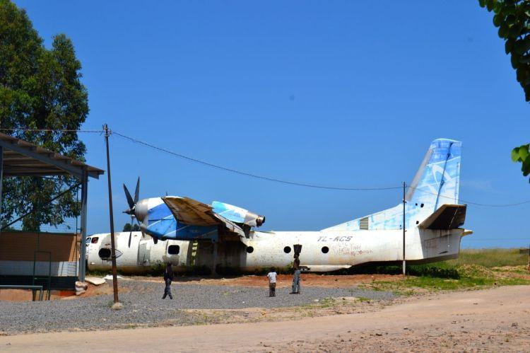 El avión derribado