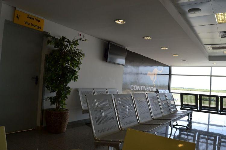 Sala de embarque  del aeropuerto de Huambo
