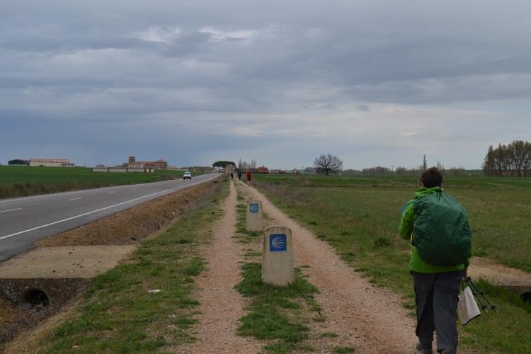 El andadero de hoy de Frómista a Carrión de Los Condes