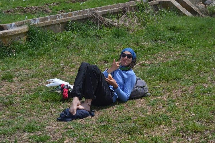 Una italiana descansando
