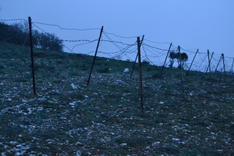 Alambradas militares en la Sierra de Atapuerca
