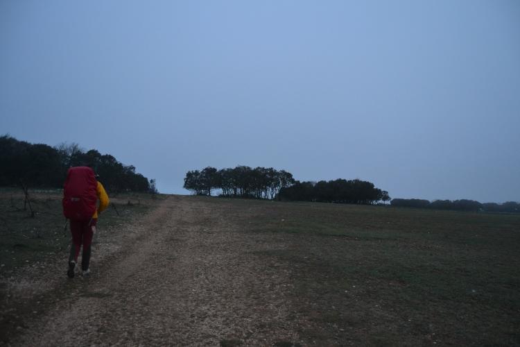 cruzando la Sierra de Atapuerca
