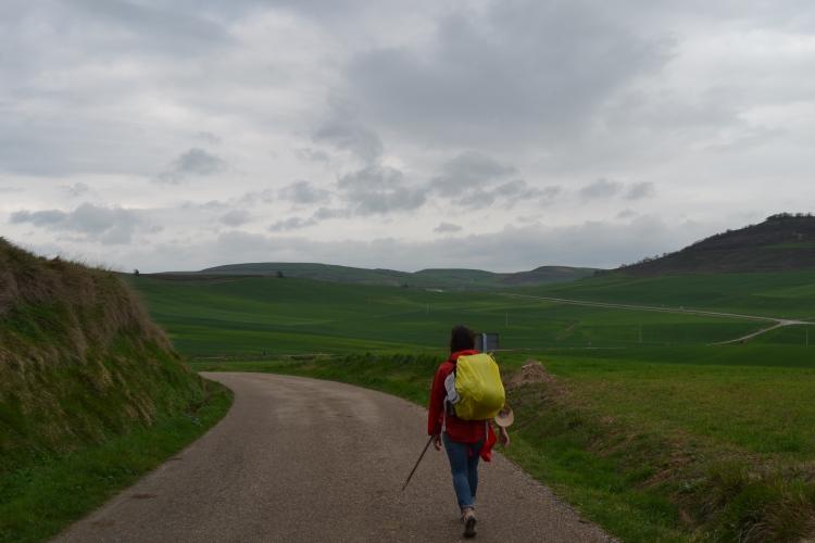 Saliendo de Viloria de Rioja