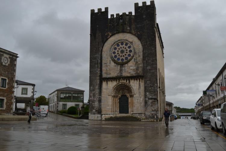 La iglesia de Portomarín que se trasladó al nuevo pueblo.