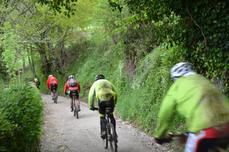 Ciclistas de Oporto peregrinando