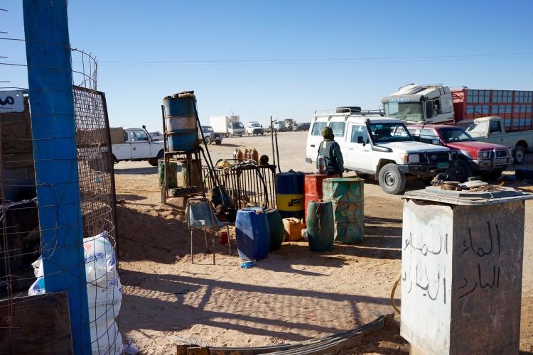 La gasolinera del mercado.