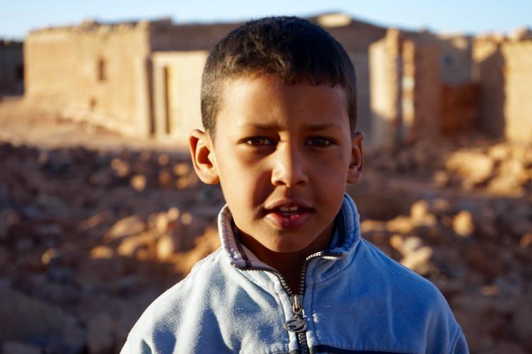 Un niño saharaui en Bujador.
