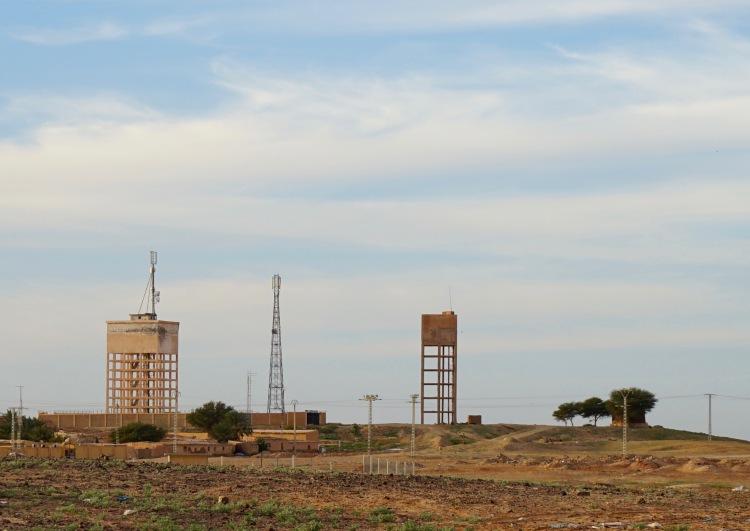 Los depósitos del agua de Tinduf en Rabuni.