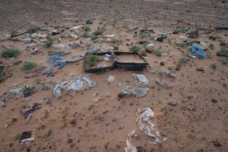 Basura en el desierto