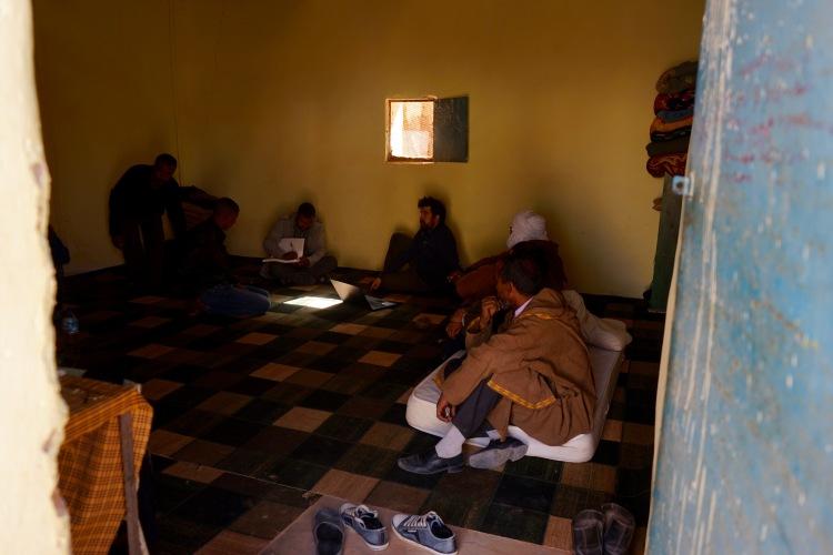 La reunión en el Centro de Menores.