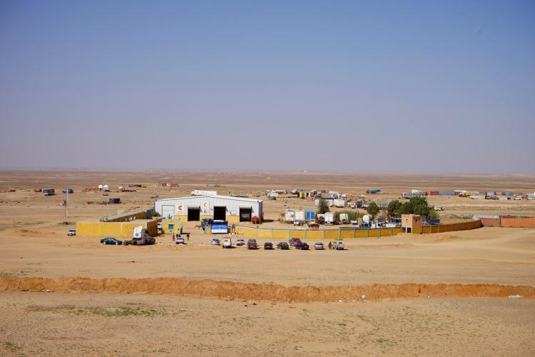 La Base de Transporte vista desde el cerro. Rabuni