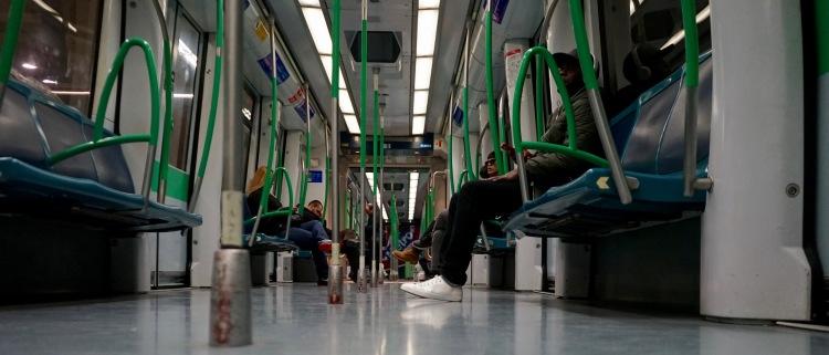 Viaje en metro a Barajas Pueblo.