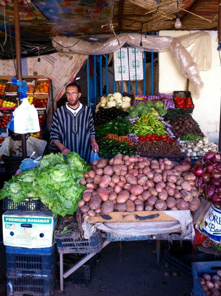La frutería del mercado de Tinduf.
